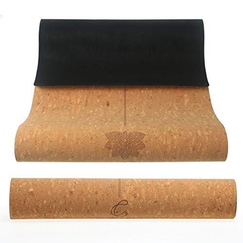 CorkTec - Esterilla de yoga de corcho grueso no tóxica, antideslizante con corcho ecológico orgánico/vegano, estera de pilates, estera de yoga caliente, Bikram, ideal para hombres, mujeres/niños, estera de yoga sin químicos, 0.157in 72 x 24 pulgadas, el colectivo de corcho