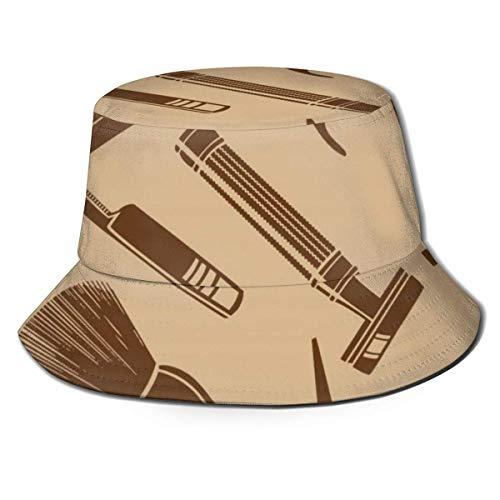 EU Peluquería Peluquería Tijeras Peine Cubo de Viaje Sombrero de Playa Sol para Hombres Mujeres Gorra de Pescador