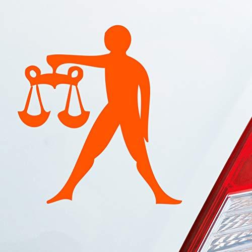 Auto Aufkleber in deiner Wunschfarbe Sternzeichen Waage PKW Car KFZ Roller 9x10 cm Autoaufkleber Sticker