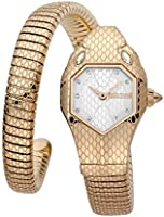 Just Cavalli Signature Snake Serpente Solo Stainless Steel Watch JC1L177M0045 - Quartz Analog for Women in Stainless...
