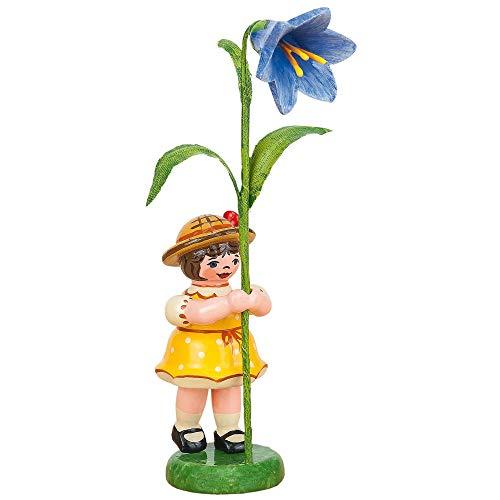Hubrig Neuheit 2015 - Blumenkind Blumenmädchen Blauglöckchen - 11cm Erzgebirge