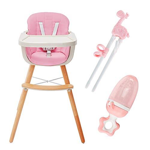 Chaises hautes pour Bébé avec Plateau Amovible, Réglable pour Tout-Petit (Enfants Apprenant Les Baguettes Et L'entraîneur De Mastication) (Couleur : Pink)