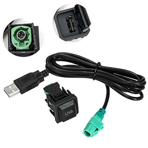 Auto USB Audio Kabel Adapter, CD-Player Radio Kabel, USB Einbaubuchse, Ersatz für VW Volkswagen (130cm)