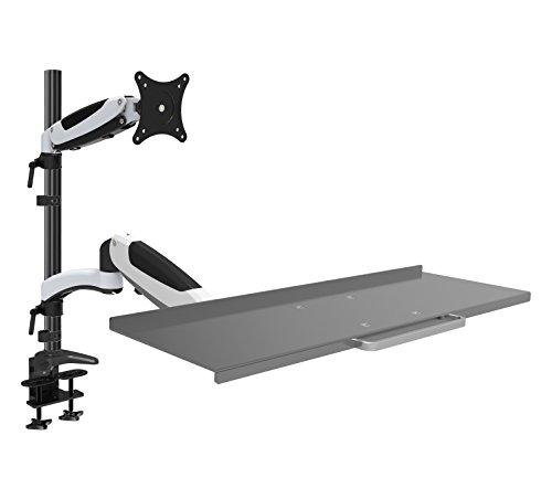 HFTEK FY01WS Workfit Workstation Monitor Halterung Halter Tischhalterung Stand - schwenkbar - neigbar bis zu 34 Zoll mit VESA 75/100