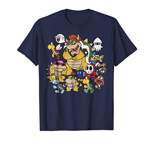 Nintendo Super Mario Bowser Enemy Group Graphic T-Shirt T-Shirt