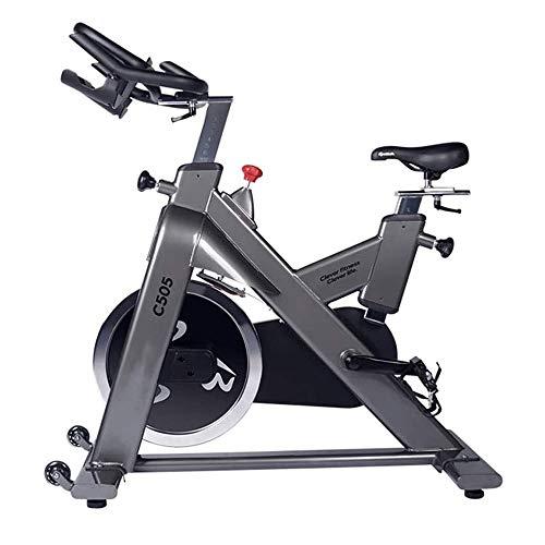 UIZSDIUZ Cubierta Bici Bicicleta estacionaria estándar Comercial con Volante, reposabrazos Ajustable Suave del Amortiguador, Correa de transmisión Suave y silencioso