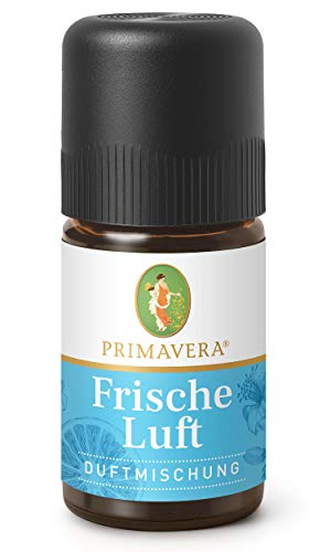 PRIMAVERA Frische Luft Duftmischung 5 ml -Pfefferminze, Zitrone und Myrte - Aromaöl, Duftöl, ätherisches Öl Aromatherapie - klärend - vegan