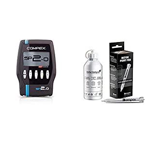 Compex Electroestimulador, Unisex, Negro + Motor Point - Lápiz de Punto Motor, Plateado, Standard