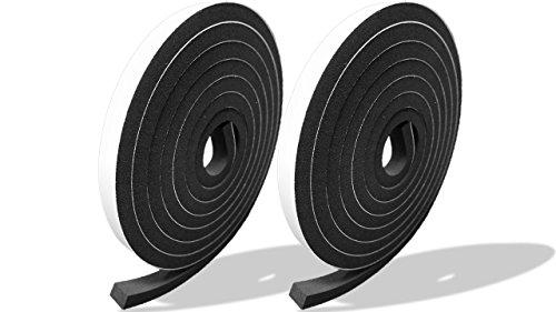 プランプ オリジナル 隙間テープ スキマッチ 黒 ブラック 厚 7 mm × 幅 10 mm × 長さ 2m 2本入(合計4m) 日本製 ゴムスポンジ 防水 防音 すきま 窓 玄関 引き戸 隙間