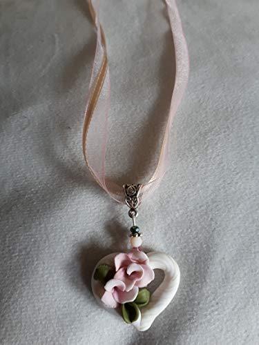 DesignSpatzl - Handgemachter Trachtenschmuck, Halskette mit Fimoanhänger