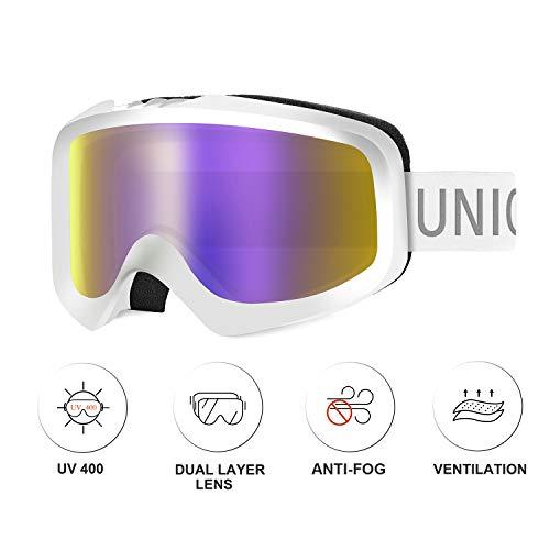 Unigear Gafas de Esquí OTG Esquiar Protección UV 400 Snowboard Revo...