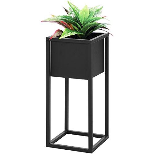 Blumentopfständer 21x21xH50cm Schwarz Metallständer Blumentopfhalter Pflanzkasten