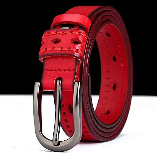 HAIPAITX Neue Designqualität LadiesFemale Hollowed Belt Retro Styles Gürtel für Frauen,Red,105cm 27to31 Inch