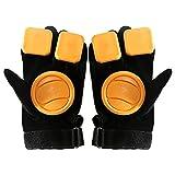 Guantes de diapositivas para guantes de freno a relajante. Guantes de giro de la carretera Guantes de torneado con longboard Resistente a los deslizadores Protección deslizante DIGURACIÓN DIY ,Negro