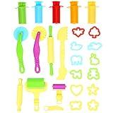 rosenice arcilla modelos 20pcs inteligente Dough Kit de herramientas con 5pcs extrusora herramientas para niños (color al azar)