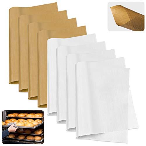 HX Juego de 8 láminas de teflón, antiadherentes, reutilizables, para horno eléctrico, 40 x 60 cm