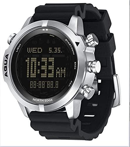 YGMDSL Reloj Digital para Hombres Reloj Digital Fitness Tracker Scuba Diving (sin Tiempo de decoración) 50m Relojes de Buceo Altímetro Compass para Android iOS