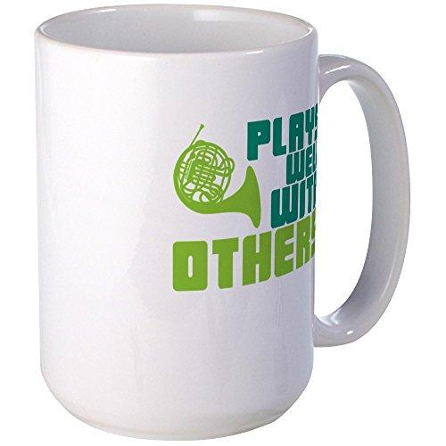 CafePress Kaffeetasse mit Waldhorn-Motiv, keramik, weiß, Large