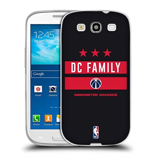 Head Case Designs Ufficiale NBA Wizards DC Family 2018/19 Slogan del Team 2 Cover in Morbido Gel Compatibile con Samsung Galaxy S3 III I9300