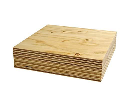 針葉樹合板(構造用合板) 厚み12mm 高耐水性 JAS F☆☆☆☆ 板材・コンパネ・合板 (300×300mm 6枚セット)