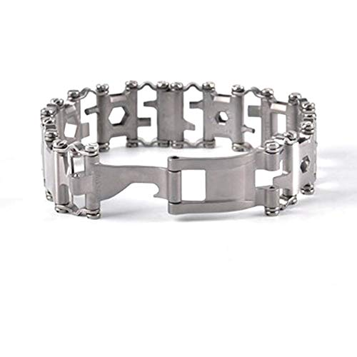 Matthew00Felix Armband Wearable Outdoor-Survival-Werkzeug Edelstahl-Schmuck-Armband
