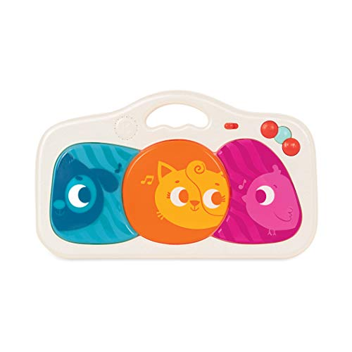B. toys – Musical Baby Toy – Music & Lights – Kick, Press, and Play – 3 Music Modes, 6 Songs & Animal Sounds – Portable Party Pad for Babies, Toddlers – 6 Months + (BX1737C6Z)