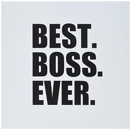 Best Boss Ever - work office black text - Greeting Card, 6 x 6 inches, single (gc_151477_5)