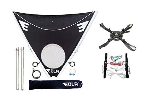 EOLA Vela para Kayak rotativa de 250 cm2 testada con Viento de hasta 50 Nudos. Incluye Todos los Accesorios para Instalar en Cualquier Superficie.