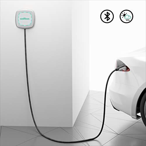 Wallbox Pulsar Ladegerät für Elektroautos E-Autos-Ladestation (EV Charging Station Ladeeinheit) Typ 1. Maximale Leistung 7,4 kW. (Weiß, Kabel 5 Meter) - 5
