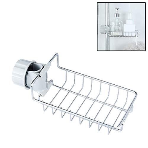 Ysoom Duschstangen Ablage Dusche Aufbewahrung Halter, Küche Organizer Badezimmerablagen Dusche Ablage Ohne Bohren Badezimmer Dusche Rack für Durchmesser von 15-28mm