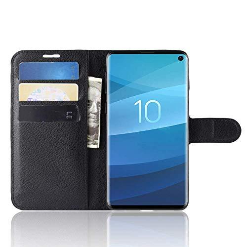 """Capa Capinha Carteira 360 Para Samsung Galaxy S10 (normal) Tela 6.1"""" Polegadas Case Couro Sintético Flip Wallet Para Cartão, Abre E Fecha - Danet (Preta)"""