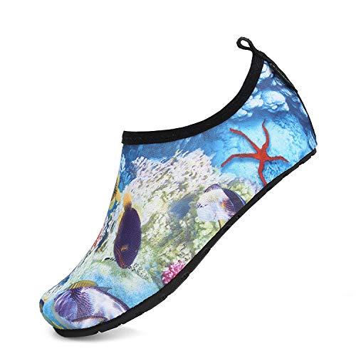 Kid's Boys Girls Breathable Aqua Socks Anti Slip Quick-Dry Beach Swimming Yoga Walking Athletic Water Shoes 1-2 Big Kid