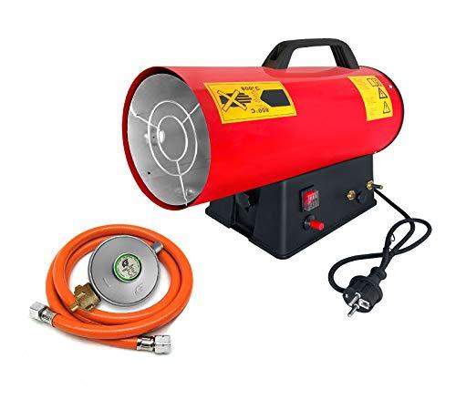 Aufun 30 kW Gasheizgebläse, Gas Heizgerät mit Druckregler, Überhitzungsschutz, Tragegriff und Schlauch für Werkstätten, Straßenbrücken, Eisenbahnflughäfen, Maschinenwartung, Industrieanlagen