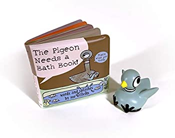 The Pigeon Needs a Bath Book with Pigeon Bath Toy