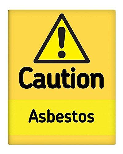 BorisMotley Voorzichtigheid Asbest Werkplaats Veiligheid Metalen bord 10x8