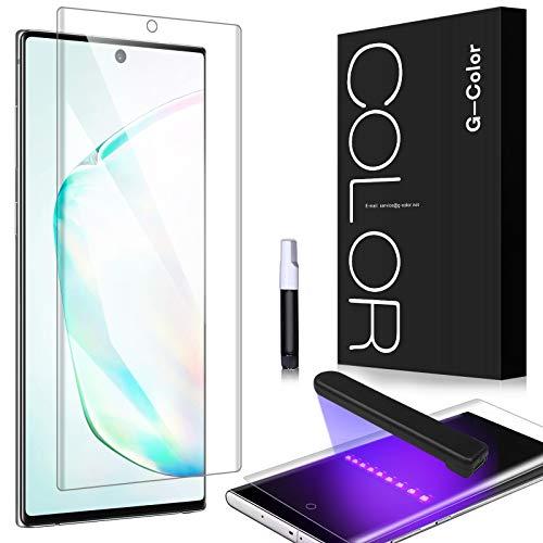 G-Color Galaxy Note 10 Plus Protector Pantalla, [Alta Viscosidad], Cristal Vidrio Templado de 3D [Alta Sensibilidad] [9H Dureza] Protector de Pantalla para SamsungGalaxy Note 10+/ Note10 Plus