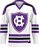 ProSphere The College of The Holy Cross University Men's Hockey Jersey () BF11B472 White and Purple