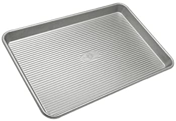 USA Pan Bakeware Jelly Roll Pan Warp Resistant Nonstick Baking Pan Made in the USA from Aluminized Steel