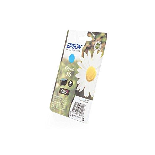 1x Original Tintenpatrone für Epson Expression Home XP 425, C13T18024010 - Cyan -