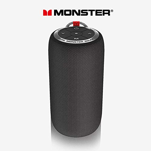 Monster Bluetooth Speaker, Superstar S310 Portable Bluetooth Speakers 5.0 with TWS Pairing Deliver Rich Bass, Dynamic Stereo Sound, Built-in Mic, Wireless Speakers for Home or Outdoor Use, Black