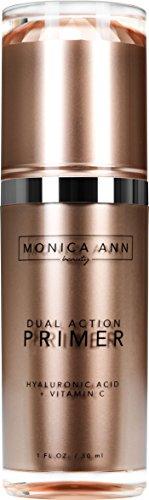 Dual-Action Face Primer (Vitamin C+ Hyaluronic Acid) , Monica Ann Beauty; Foundation Primer...