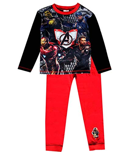 Disney Jungen Avengers Captain America Iron Man Film Lange Pyjamas Alter 9-10 Jahre