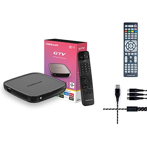Formuler GTV 4K Ultra HD Media Streaming Box with Free 3in One Charger + Universal Formular-Samsung-LG Remote New Mexico