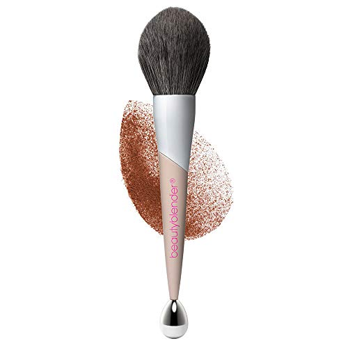 of powder brushes dec 2021 theres one clear winner beautyblender BIG BOSS Makeup Powder Brush & Cooling Roller for Blush, Bronzer and Foundation. Vegan, Cruelty Free and Made in the USA