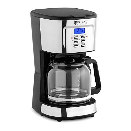 Royal Catering RC-FCM01 ekspres do kawy z filtrem, ekspres do kawy z filtrem stałym LCD 1,5 l