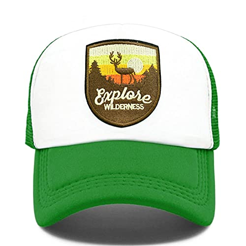 Yooci Gorras De Hombre Gorra de Camionero Explore Gorra de Camuflaje de Vida Silvestre Salvaje para Gorra de béisbol de exploración al Aire Libre Gorras de Malla Frescas de Verano
