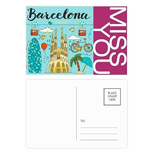 Barcelona Spanische Sagrada Familia Miss Postkarten-Set, 20 Stück