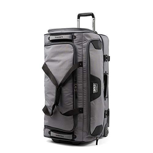Travelpro Bold-Drop Bottom Wheeled Rolling Duffel Bag, Grey/Black, 30-Inch