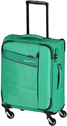 """Travelite Extrem leicht: """"KITE"""" – sportlich-klassische Trolleys, Trolley-Reisetaschen und Bordtaschen Koffer, 54 cm, 36L, Grasgrün"""