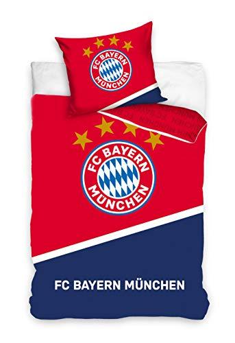 FC Bayern München Bettwäsche 140x200cm blau/rot BMFC201001-P
